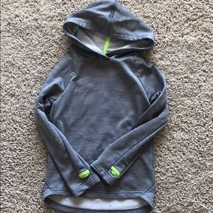 Gray hooded champion sweatshirt